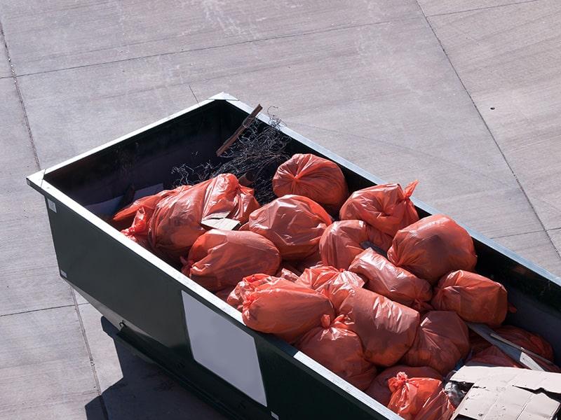 Skip Bin Filled with trash in Brisbane