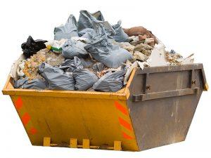 overloaded skip bins